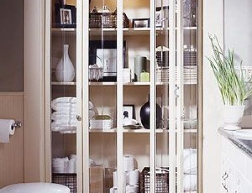 Beautiful Bathroom Storage!